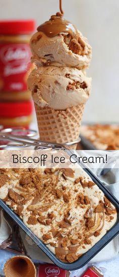 Easy Four Ingredient No-Churn Biscoff Ice Cream! So Incredibly Easy, and So Incredibly Delicious! Easy Four Ingredient No-Churn Biscoff Ice Cream! So Incredibly Easy, and So Incredibly Delicious! Cheesecake Ice Cream, Ice Cream Desserts, Frozen Desserts, Ice Cream Recipes, Easy Desserts, Dessert Recipes, Easy Ice Cream Recipe, Frozen Treats, Ice Cream Mix