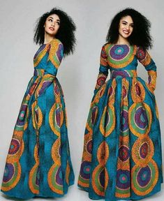 Sandra Maxi dress with pockets//African dress / African dresses for prom/ African print dress / African maxi dress Ankara Maxi Dress, African Maxi Dresses, African Attire, African Wear, Ankara Blouse, Ankara Stil, Ankara Styles For Women, Style Africain, Beautiful Maxi Dresses