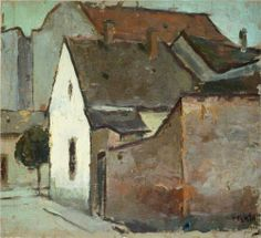 Landscape from Caransebes - by Romanian painter Corneliu Baba