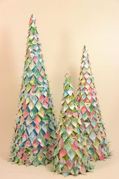 Paper Mache Christmas Decorations | Paper mache, Christmas tree ...