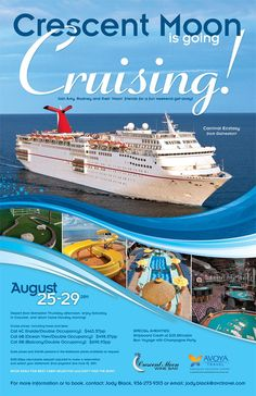 crescent moon cruise line ad travel ads travel tours travel agency advertisement examples