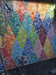 Diamond wall outside my studio almost finished and yet to be grouted.