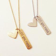 Love you more necklaces  www.shopebbo.com