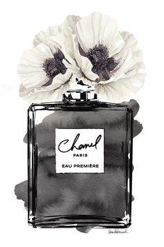 Canvas Art Prints, Wall Prints, Chanel Poster, Chanel Logo, Chanel Chanel, Mode Poster, Parfum Chanel, Image Deco, Fashion Wall Art