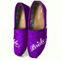 10 OFF with code  PINNED10 Womens Sparkly Glitter Toms Shoes Purple Plum  Regency Lapis Eggplant c48c005f3f57