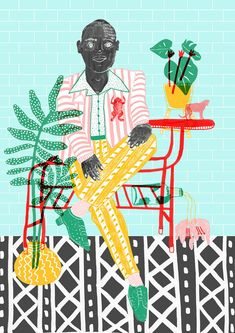 Unique #fashion and #food #illustrations by Camilla Perkins
