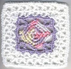 Lacy Diamond Square   AllFreeCrochetAfghanPatterns.com