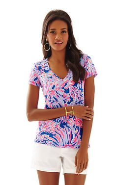 Lilly Pulitzer - Etta V-Neck Top - Printed