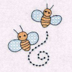 Free Embroidery Design: Bees
