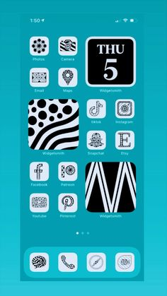 Custom designed 35 different app icons, available in 9 colors! www.zenspiredesignsetsy.com