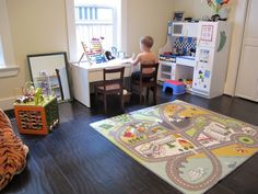 Montessori inspired play and learning room - rotate items, foster independence and confidence