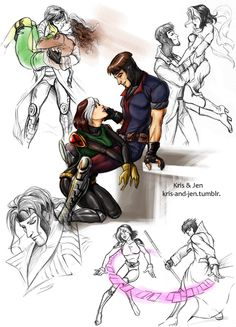 So many ways to love them... y favorite couple, gambit and rogue