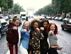 Mel B, Emma Bunton and Geri Halliwell are on the hunt for two new members for the Spice Girls reunion Fashion Kids, 90s Fashion, Fashion Trends, Fashion Inspiration, Adidas Fashion, Fashion Shoes, Vintage Fashion, Spice Girls Outfits, Girl Outfits
