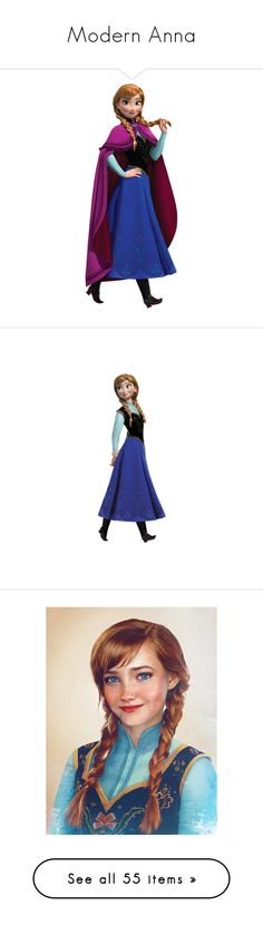 """Modern Anna"" by livvy-horan ❤ liked on Polyvore featuring disney, home, children's room, children's decor, anna, frozen, backgrounds, pictures, people and beauty products"