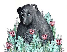 """Check out new work on my @Behance portfolio: """"another black bear"""" http://be.net/gallery/50701951/another-black-bear"""