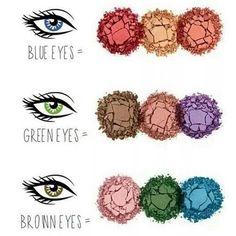 Hoje é dia de #beautytips! - Saiba que cores combinam mais com seus olhos. - #ficaadica #beleza ...