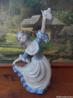 Sculpture, Statue, Art, Vintage Pottery, Tea Sets, Porcelain Ceramics, Women, Art Background, Kunst