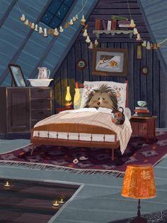 Little Hedgehog by Olga Demidova