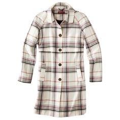 Merona® Women's Plaid Topper Coat -Winter White from Target. I saw this in the store and almost bought it!