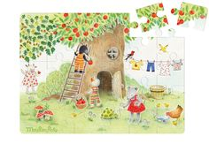 Garden Puzzle from La Grande Famille #632654 #magicforesttoys #moulinroty