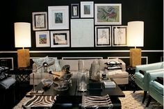 Frame arrangement might look good with a flat-mounted TV in the bedroom.