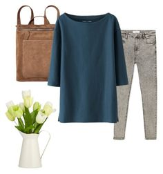 """""""Untitled #73"""" by nia-m ❤ liked on Polyvore featuring MANGO and Uniqlo"""