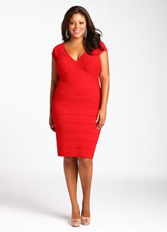 Ashley Stewart: Web Exclusive: Bodycon Sweater Dress