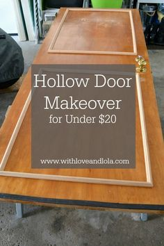 DIY - Turn old hollow doors into white paneled doors quick!  Costs under $20, and is an easy project.  Step by step guide to a hollow door makeover.
