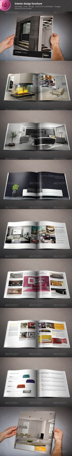 Product Catalogs \/ Brochure Brochures, Catalog and Catalog design - interior design brochure template