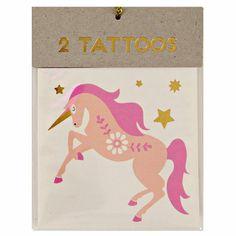 Unicorn & Rainbow Temporary Tattoos