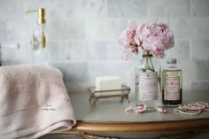 5 reasons why I am obsessed with pretty bottles  -  The other day I walked into HomeGoods...   and walked out   with a bin filled with bottles of hand soap.         I stood in the bathroom a...