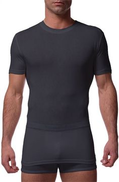 Tommy John 'Second Skin' Crewneck T-Shirt available at #Nordstrom  The best undershirt.  Any guy would be delighted to pop this on.  Runs long for guys that find it hard to keep their shirts tucked in place.