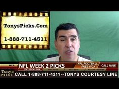 Monday Night Football NFL Picks Week 2 Odds Predictions 9-19-2016