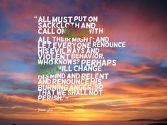 Jonah 3:8-9 Prophet Jonah, Behavior, Mindfulness, Let It Be, God, Behance, Dios, Allah, Consciousness