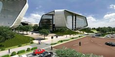 Construction work on the 131 Mall of Africa on Track Office Building Architecture, Contemporary Architecture, Mall, Africa, Construction, Mansions, House Styles, Outdoor Decor, Home