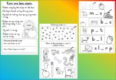 Teaching Resources for South African Teachers Preschool Education, Preschool Learning, Learning Centers, Preschool Activities, School Resources, Teaching Resources, Afrikaans Language, Handwriting Practice Sheets, Afrikaans Quotes