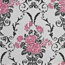 Black And Pink Wallpaper Bedroom Google Search Damask Cream Feature