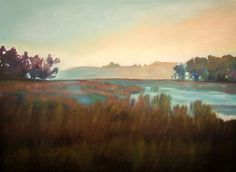 "Daily+Paintworks+-+""Morning+Pond""+-+Original+Fine+Art+for+Sale+-+©+Lauren+Pretorius"
