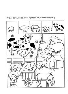 * Vind de dieren...