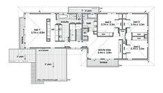 Modern Style House Plan - 5 Beds 2.50 Baths 3882 Sq/Ft Plan #496-1 Floor Plan - Upper Floor Plan - Houseplans.com