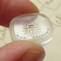 """Antique Tassie gem wax seal with a rebus -  """"Nothing New Under the Sun""""."""