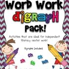 Digraphs included: ch, th, sh, ck, wh   Activities are the same for each spelling pattern, which help to familiarize students with the format of th...