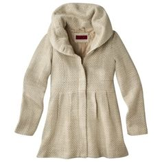 Coffee Shop Coffee Shop Juniors Tweed Coat with Stand Up Collar -Ivory Taupe Target on sale at Target - Multiple Locations