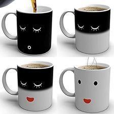Taza de cambio de calor mañana Café Taza de color sensible Magic té caliente reactiva