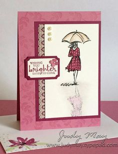 Stampin Up! Beautiful You Reflection & Paper Piecing Techniques - Judy May, Just Judy Designs