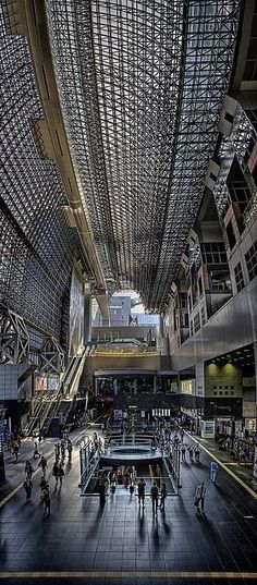 Kyoto station, Japan. find your inspiration visiting www.i-mesh.eu  and click I LIKE on FACEBOOK: https://www.facebook.com/pages/I-MESH/633220033370693