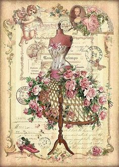 ideas shabby chic cards printables decoupage for 2019 Decoupage Vintage, Vintage Abbildungen, Images Vintage, Decoupage Paper, Vintage Labels, Vintage Ephemera, Vintage Pictures, Vintage Cards, Vintage Paper