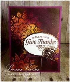 A La Cards: Give Thanks for Sunday Stamps