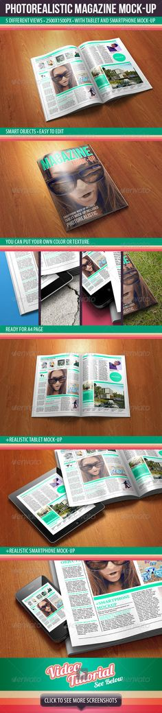 Photorealistic Magazine Mock-up Download here: https://graphicriver.net/item/photorealistic-magazine-mockup/2639083?ref=KlitVogli