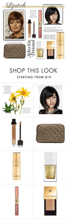 """""""Stay Golden: Gold Make-Up"""" by elisabetta-negro ❤ liked on Polyvore featuring beauty, Helena Rubenstein, Jouer, Chanel, The Hand & Foot Spa, tarte, Yves Saint Laurent, gold, metal and metallicmakeup"""